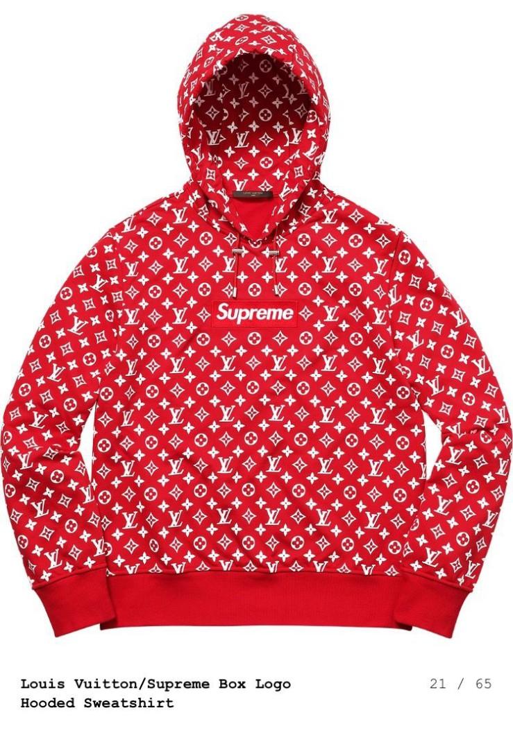 4c9aefcb8772 Louis Vuitton x Supreme Box Logo Hoodie