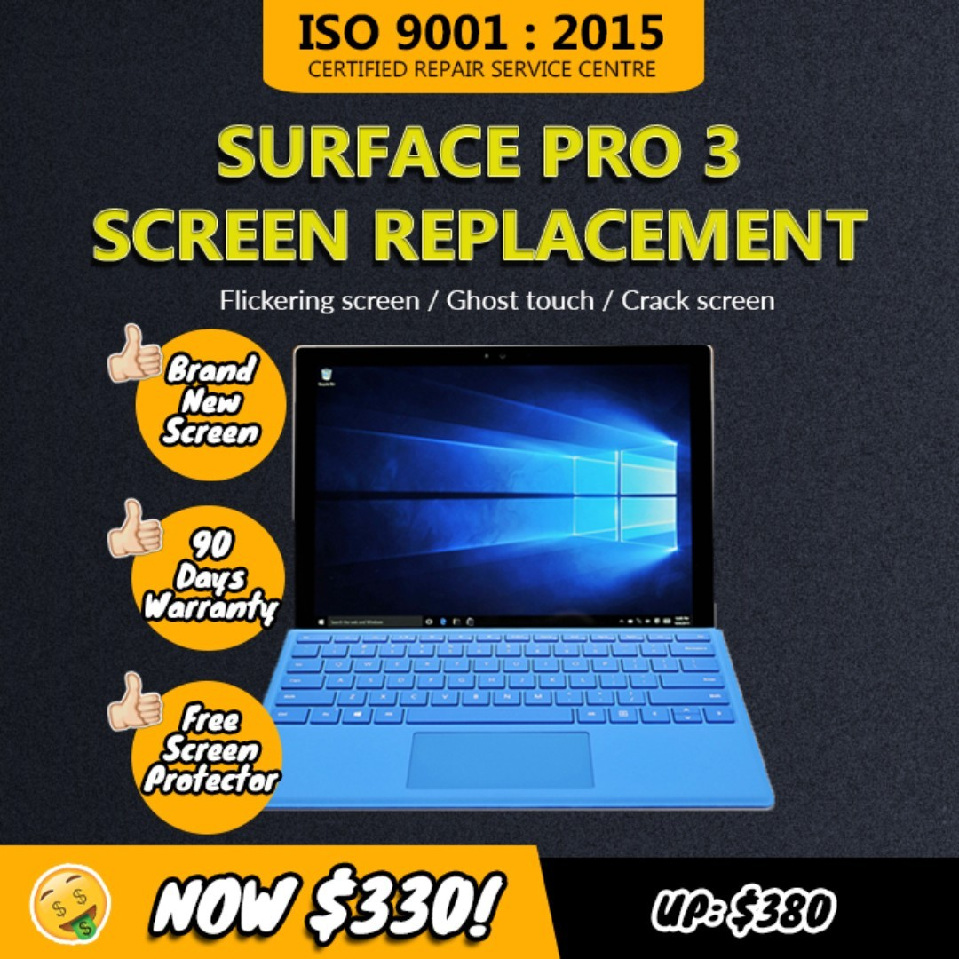 Microsoft Surface Pro 3 Touch Screen and Screen Replacement