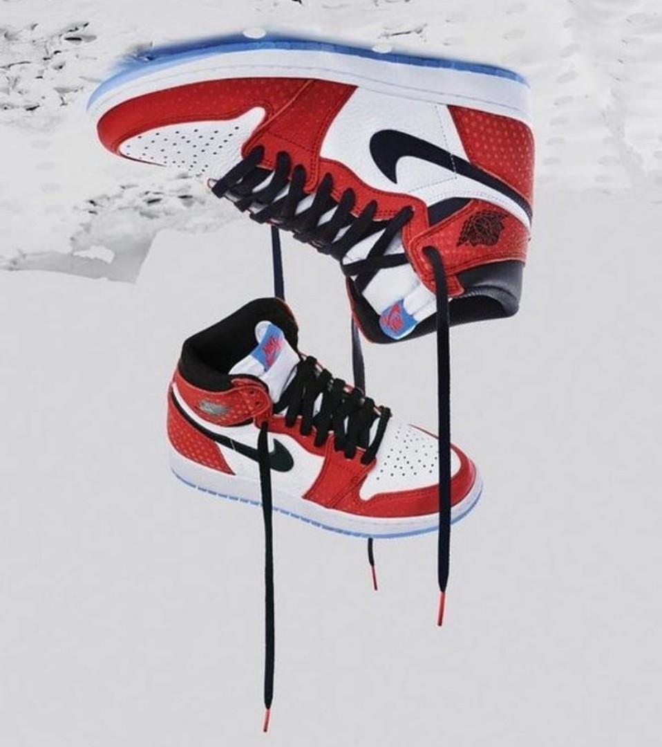 e1ec7083087 Nike Air jordan 1 Spider-man verse Origin story, Men's Fashion ...