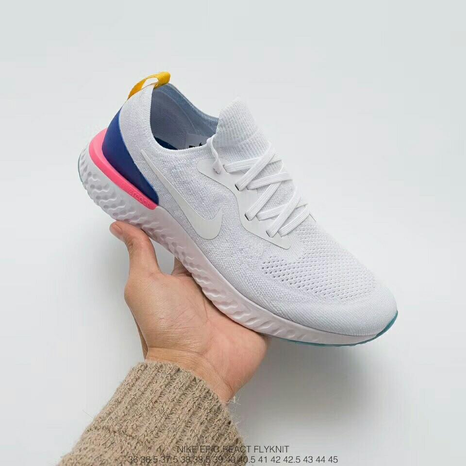 Nike Epic React Flyknit White, Men's