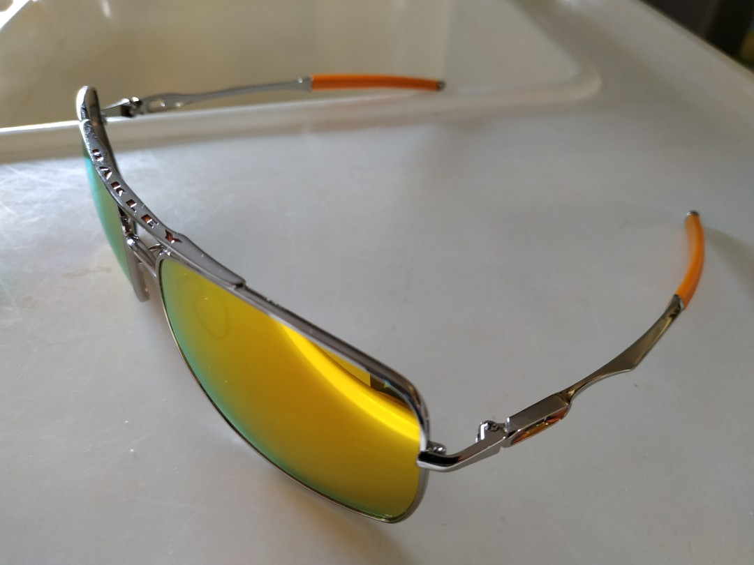 5129817405d Oakley Sunglasses ( Deviation Polished Chrome  Fire Iridium)
