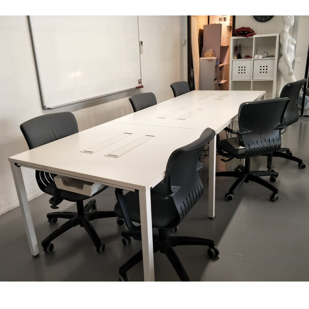 Office table long chairs furniture tables chairs on carousell