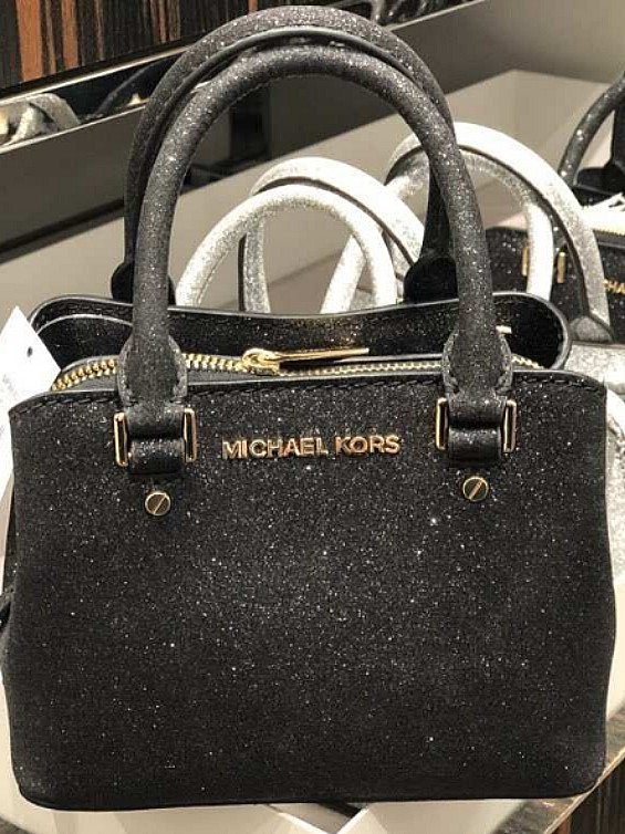 cc4742be50bef6 Michael Kors Mini Savannah in glitters- Black ☆AUTHENTIC☆, Women's Fashion,  Bags & Wallets, Sling Bags on Carousell