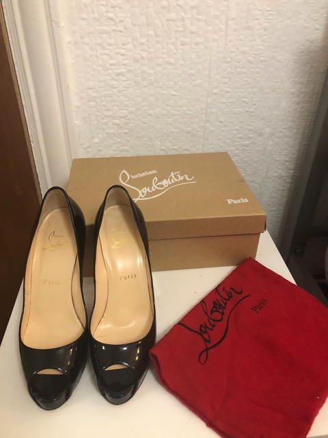 separation shoes a5d4a 38afb Preloved Christian Louboutin Very Privé 120 mm Black Patent ...
