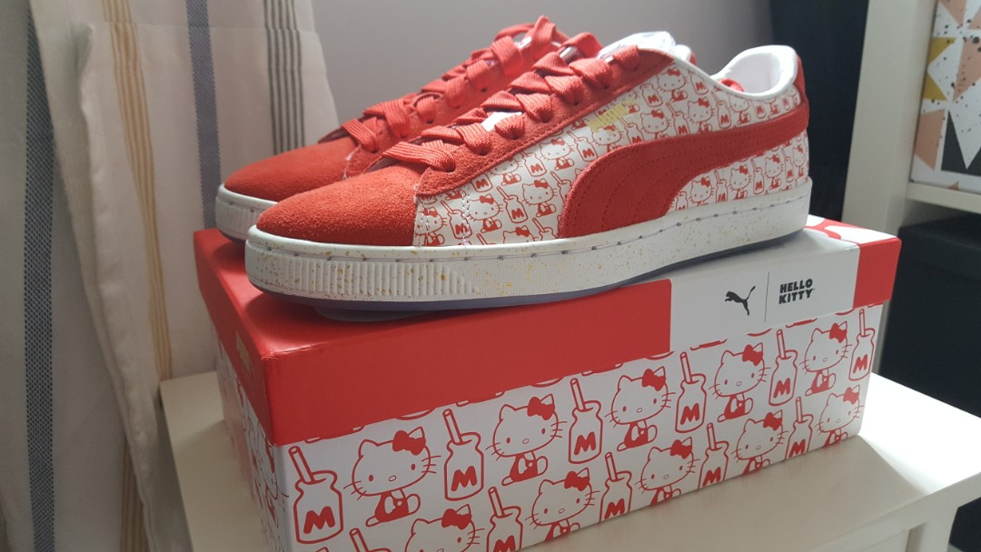 f8963cac8745 PUMA x HELLO KITTY Women s Suede Classic Sneakers in Bright Red ...