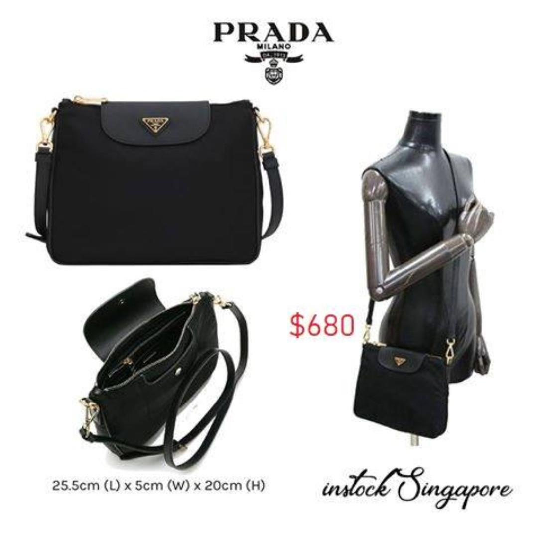 f5043bb6c28869 READY STOCK authentic new Prada 1BH933 Tessuto Nylon & Saffiano ...