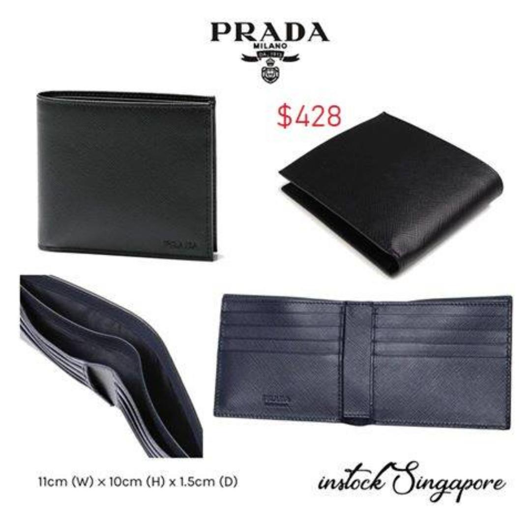 9fd512cafadb4e READY STOCK authentic new Prada men wallet full leather billfold ...