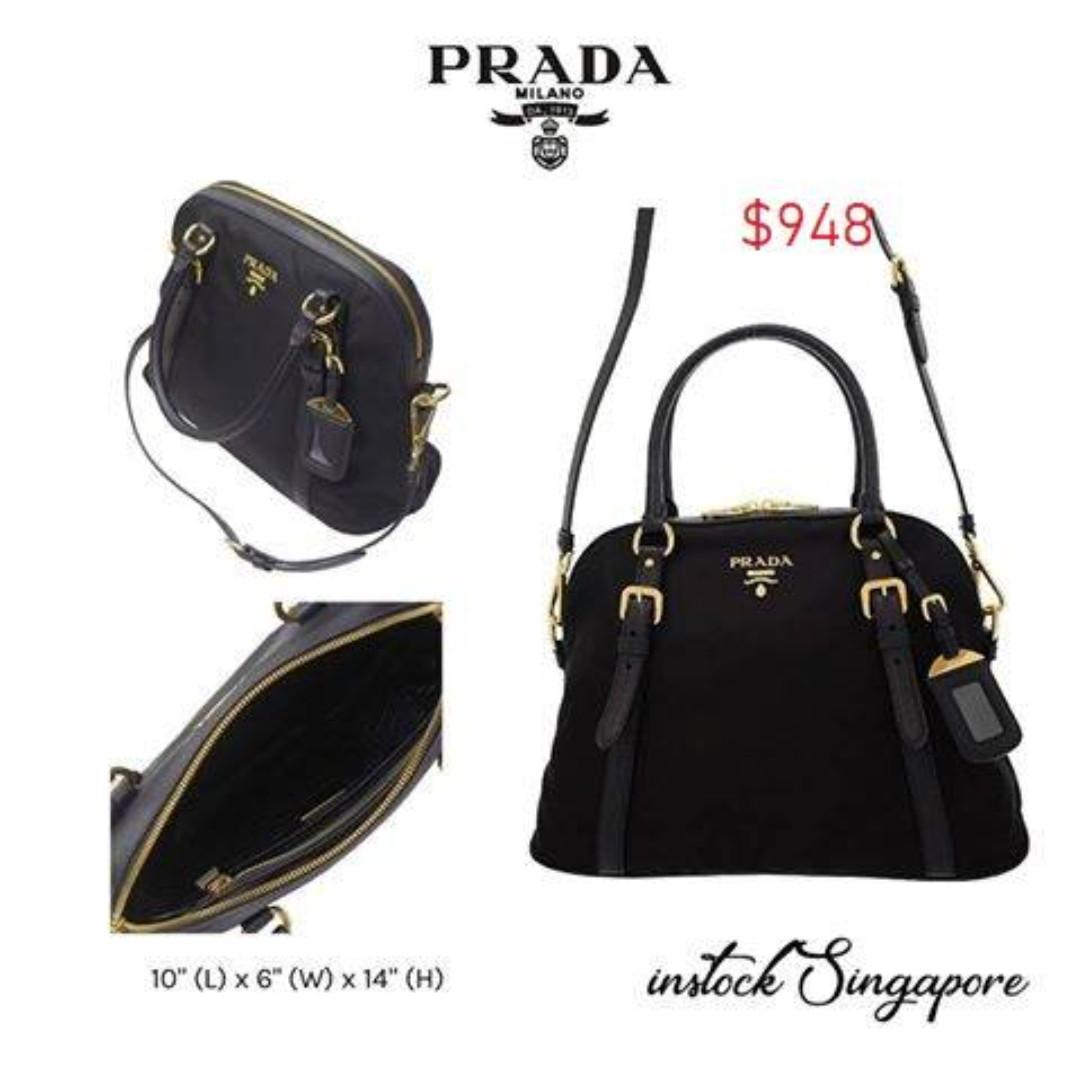 581a4c8d5ac72 READY STOCK authentic new Prada Tessuto Nylon and Saffiano Leather ...
