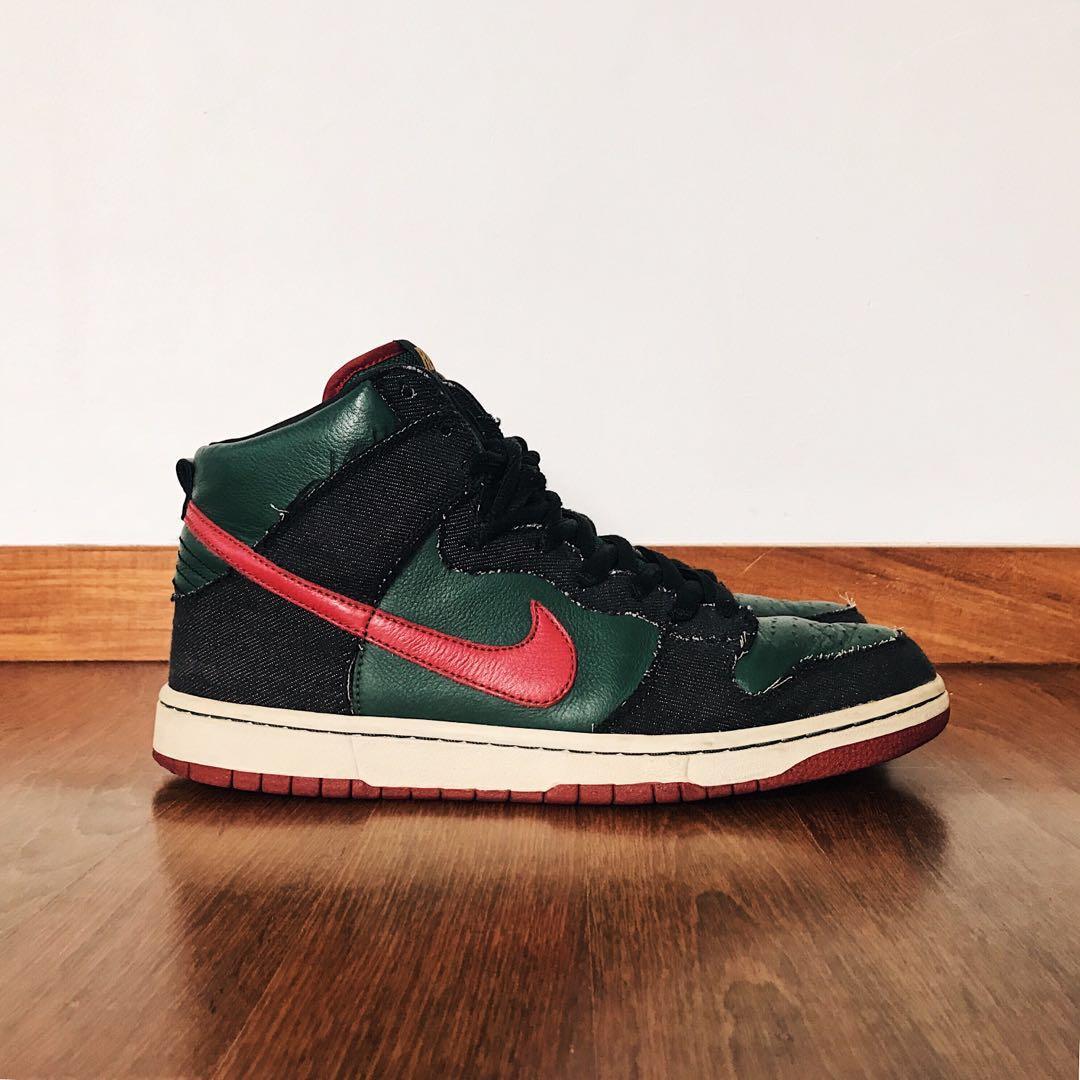 "best value 35ebb 6431c RESN x Nike Dunk High SB ""Gucci"", Men's Fashion, Footwear ..."