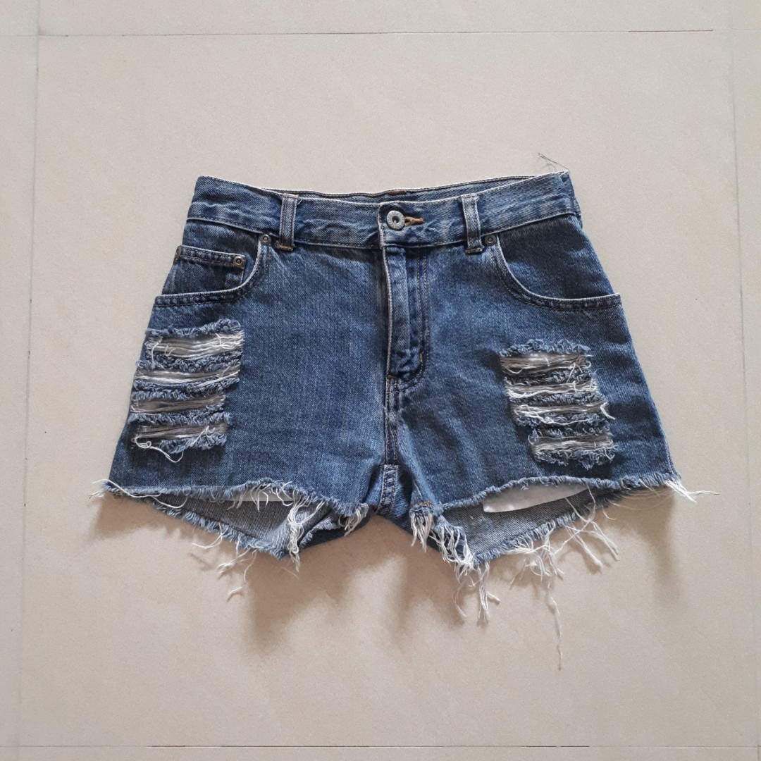 a692bdf9ef ✨Ripped Denim High Waist Shorts, Women's Fashion, Clothes, Pants ...