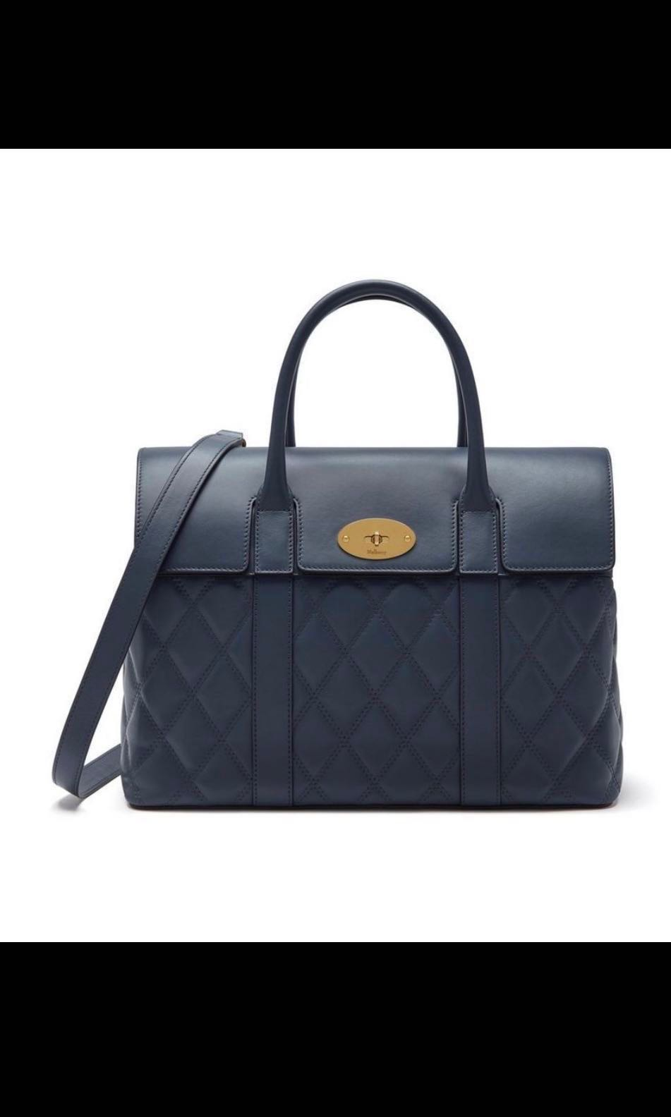 8fe9b1e0a4b Sale! Mulberry Bayswater in Elephant Quilted Silky Calf, Luxury ...