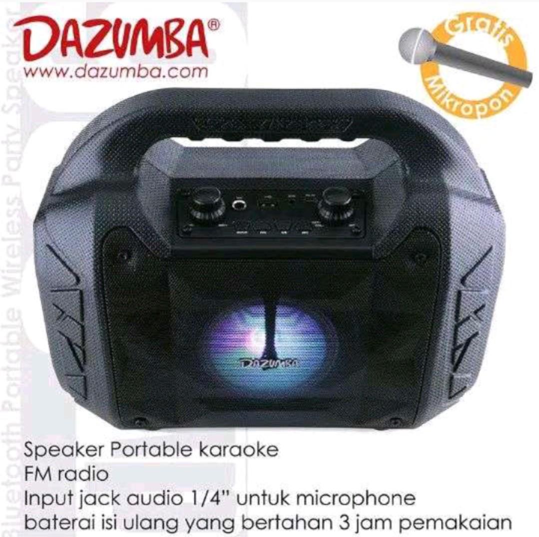 Speaker bluetooth Dazumba DW086 free MIC, Electronics, Audio on Carousell