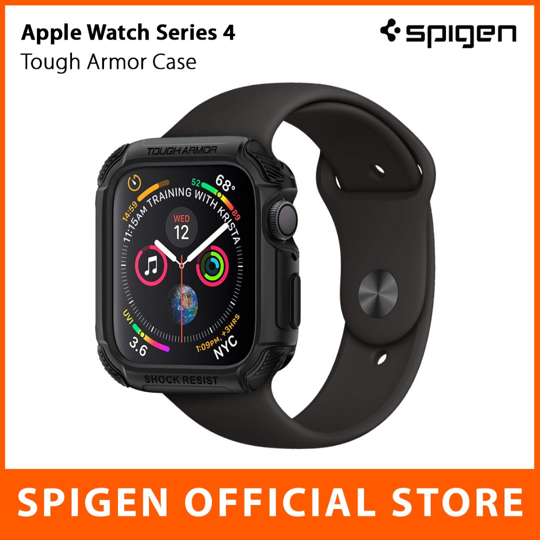 Spigen Apple Watch Series 4 Case Tough Armor (44mm / 40mm), Men's Fashion, Watches on Carousell