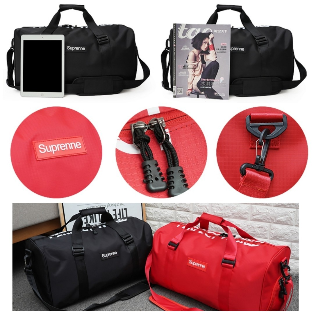 06101ce556be Supreme Duffle Bag Gym Bag Travel Bag Cabin Luggage Suitcase Running Shoes  Sports Shoes Compartment Compartments Zip Dry And Wet Separate Big Large  Handbag ...