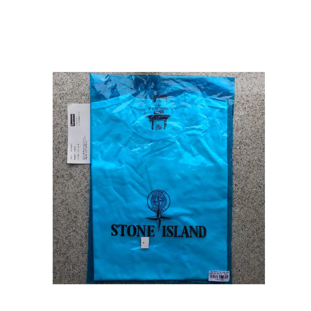 be075ab0ec1dc Supreme/Stone Island S/S Top White S, Men's Fashion, Men's Tops on ...