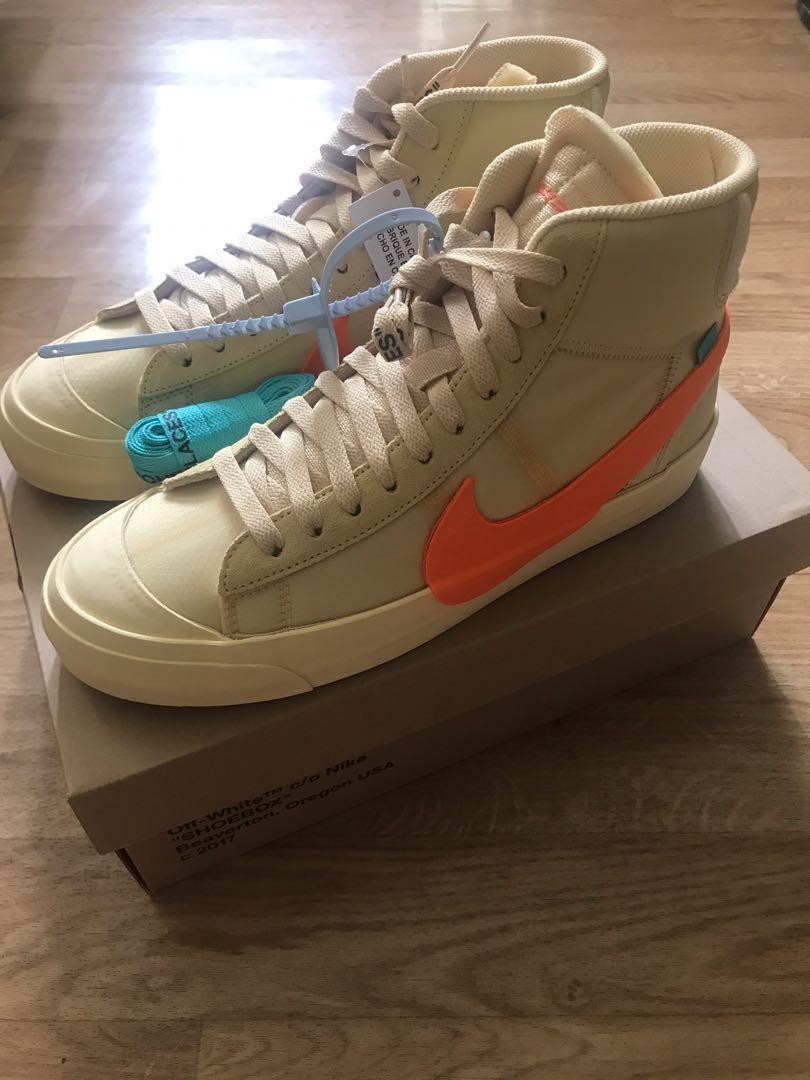 cheaper 5ac9a a845d US9.5] Nike x Off White Blazer Hallows Eve, Orange, Men's Fashion ...