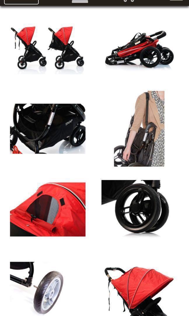Valco Baby Snap 3 Three Wheel Stroller priam (full recliner