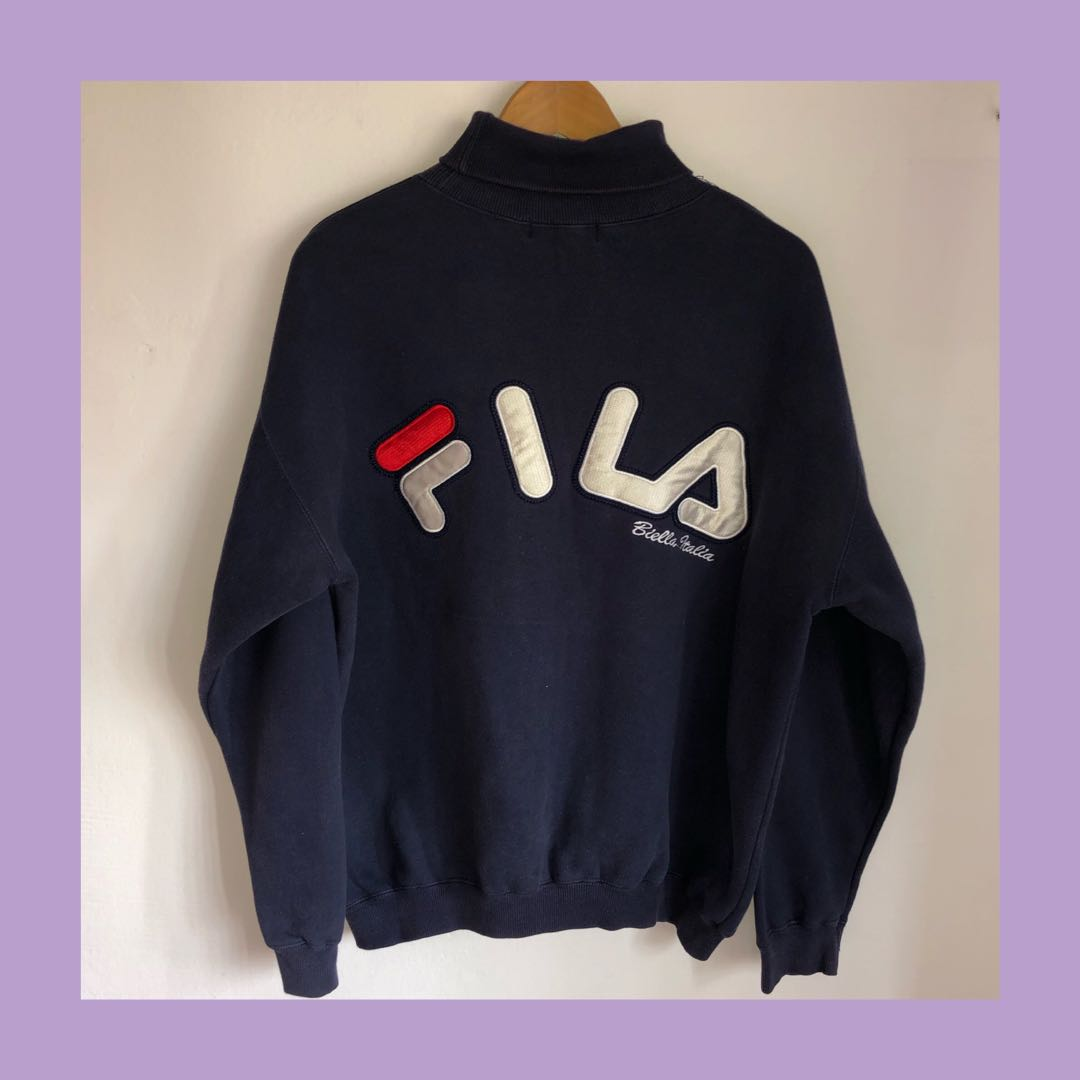 ff6a8b34d26 🔥Vintage Fila High Neck Sweater/Pullover, Men's Fashion, Clothes ...
