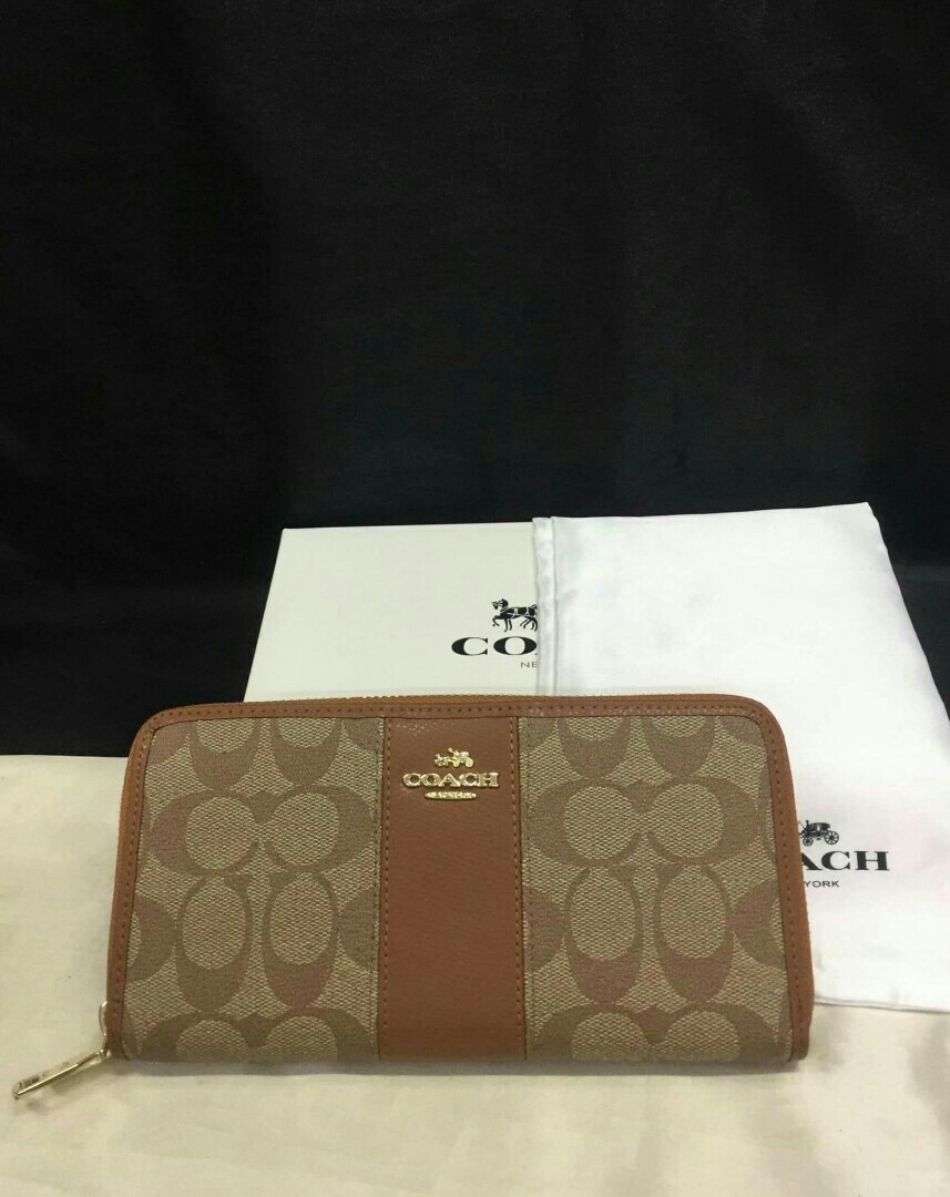With Box Dust Bag Coach Wallet CC Christmas Gift