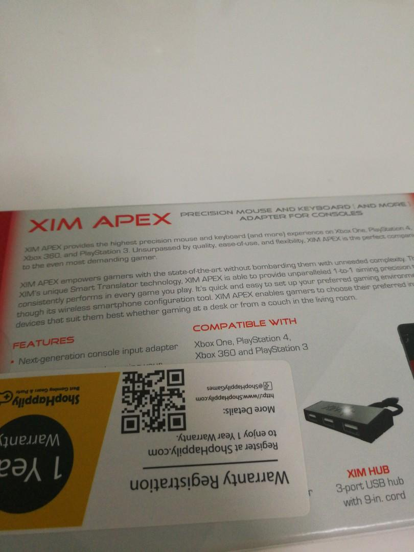 Xim Apex, Toys & Games, Video Gaming, In-Game Products on