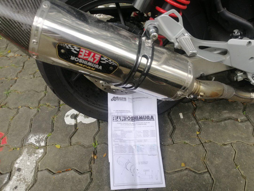 Yoshimura R77 Exhaust No Dents (receipt of purchase/full documents/legal)