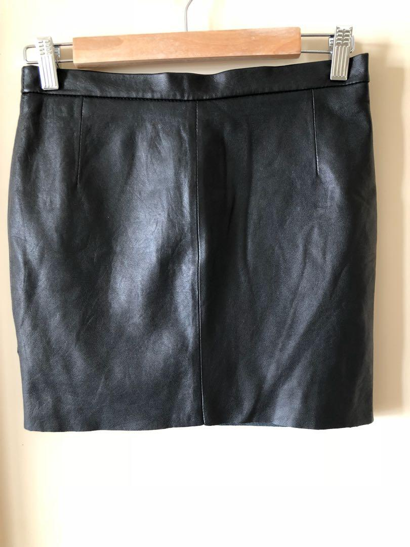 Zadig Voltaire deluxe leather lamb skirt, size 34, Aus 6-8