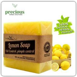 Precious Herbal Natural Lemon Soap for Oily Skin/Pimple Control 90grams
