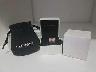 Brand New & Authentic Pandora 2 Pcs Pink Murano with small box / pouch