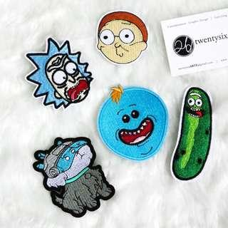Iron On Patch | Rick and Morty | Rick, Morty, Snuffles, Mr. Meeseeks, Pickle Rick