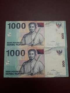 Indonesia 1000Rp 2000