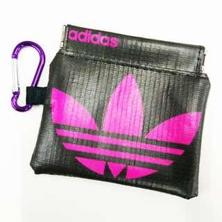 Adidas pink coin pouch