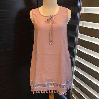IEF Embroidery Pink Dress (Brand New) (Fashion Wanita) (Dress Wanita)