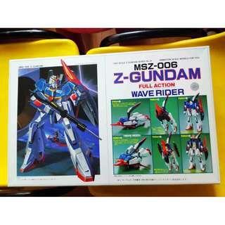 請看推廣優惠 ** 注意 : 包裝袋已開 ** Bandai 罕有絕版 可變戰機 全新未砌 1比100 Zeta Z Gundam Full Action Wave Rider MSZ-006 高達模型 4