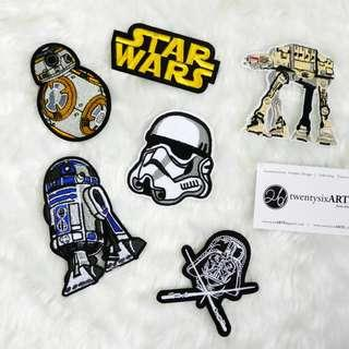🚚 Iron On Patch | Star Wars | Stormtrooper, R2-D2, BB-8, AT-AT walker, Star wars Logo, Darth Vader