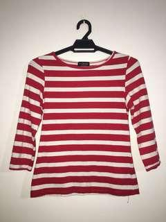 Red Stripe Top