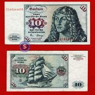 1960 Germany Federal Republic 10 Deutsche Mark Deutsche Bundesbank