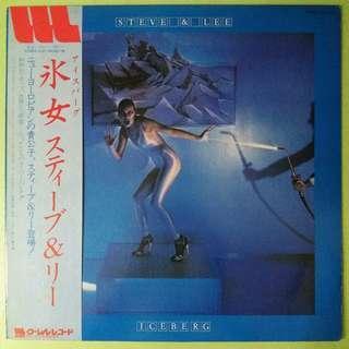 """【舊版""""Electronic, Rock, Pop""""黑膠唱片】Steve & Lee ~ Iceberg (1980 Japan)【見本盤 / 非壳品】"""