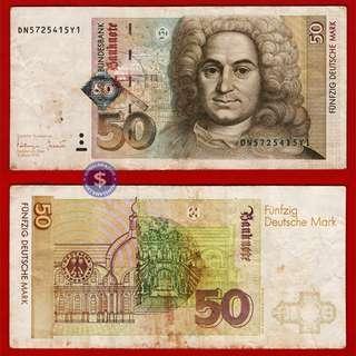 1996 Germany Federal Republic 50 Deutsche Mark (Pick #45)