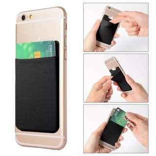 Elastic Lycra Cell Phone Wallet Credit ID Card Holder Pocket