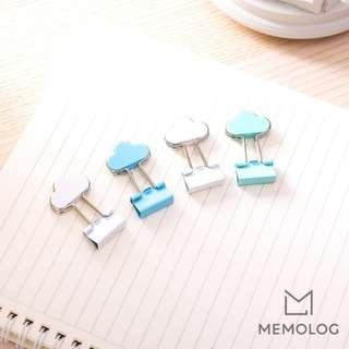 Set of 3 DELI Elegant Cloud Binder/Paper Clips