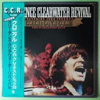 """【舊版""""Rock""""黑膠唱片】Creedence Clearwater Revival Featuring John Fogerty ~ Chronicle - The 20 Greatest Hits (1981 Japan)(2LP)"""