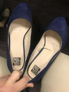 Collection Navy Blue Suede Pumps