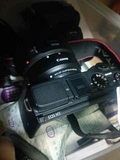 Canon eos m3 + adapter no box