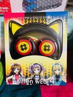 🈹聖誕特價☃️貓喵發光耳機 有線 全新🇯🇵日本直送空運景品🇯🇵