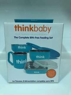 New baby / kid's complete BPA- Free feeding set in blue for sale !
