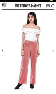 Nenza velour high-waisted pants (TEM)