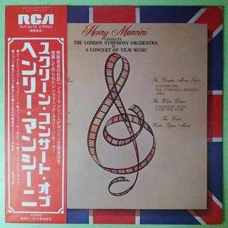 """【舊版""""Jazz, Stage & Screen""""黑膠唱片】Henry Mancini Conducts The London Symphony Orchestra ~ In A Concert Of Film Music (1976 Japan)"""