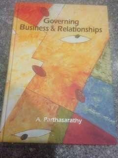 Governing Business & Relationships by A. Parthasarathy (hardcover)