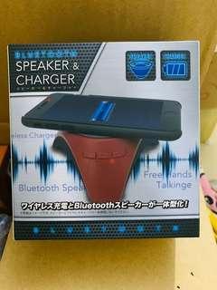 ☃️無線充電 兼 藍芽喇叭 黑/白/紅色 🇯🇵日本直送空運景品🇯🇵