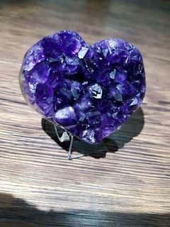 烏拉圭紫水晶愛心